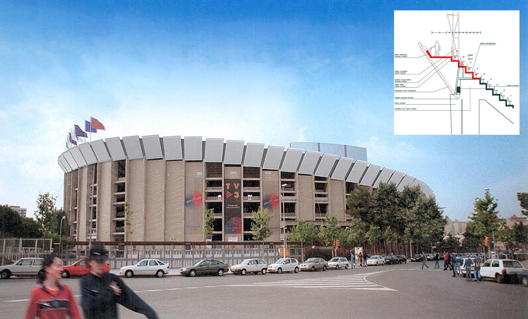 Proyecto Ejecutivo de Ampliación de la 3ª grada del Camp Nou y remate superior (2001)