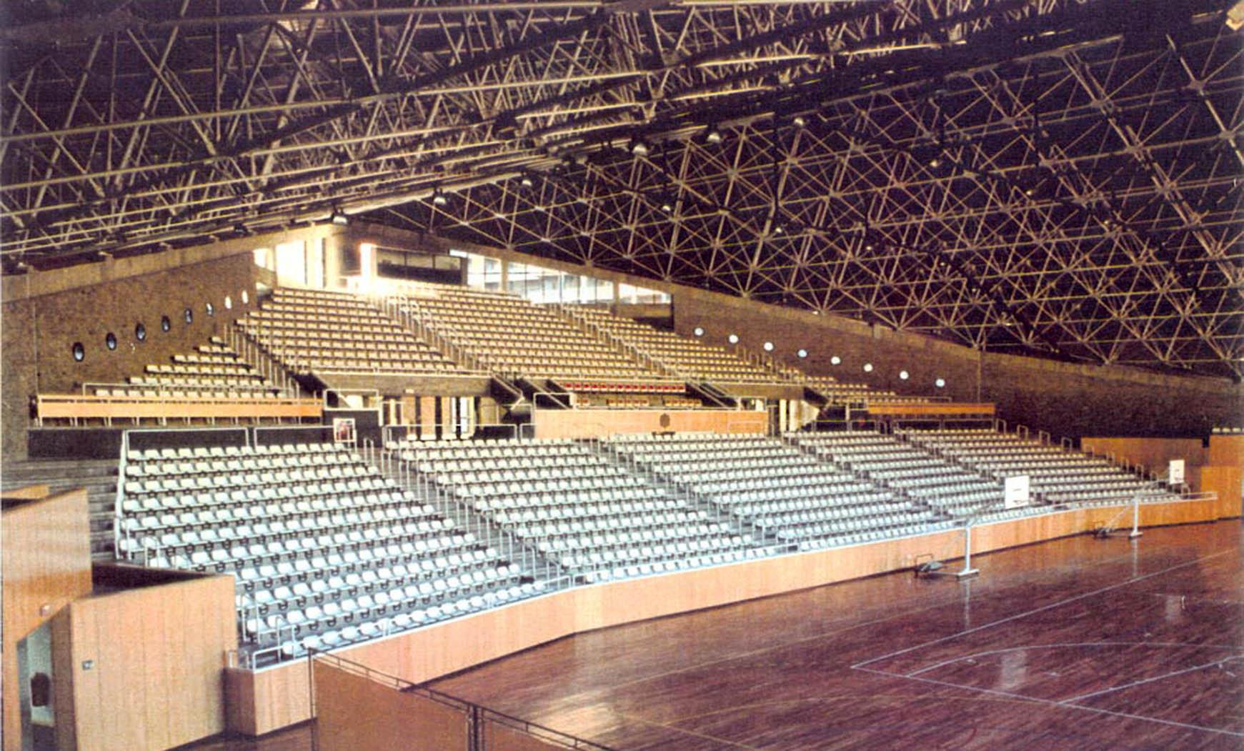 Pabellón polideportivo en Andorra (1988), en colaboración con Francesc Mitjans y SCB