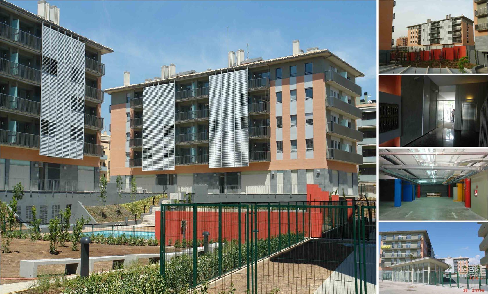 90 viviendas, bajos comerciales, aparcamiento subterráneo y jardín en St. Cugat (2008) 1/2
