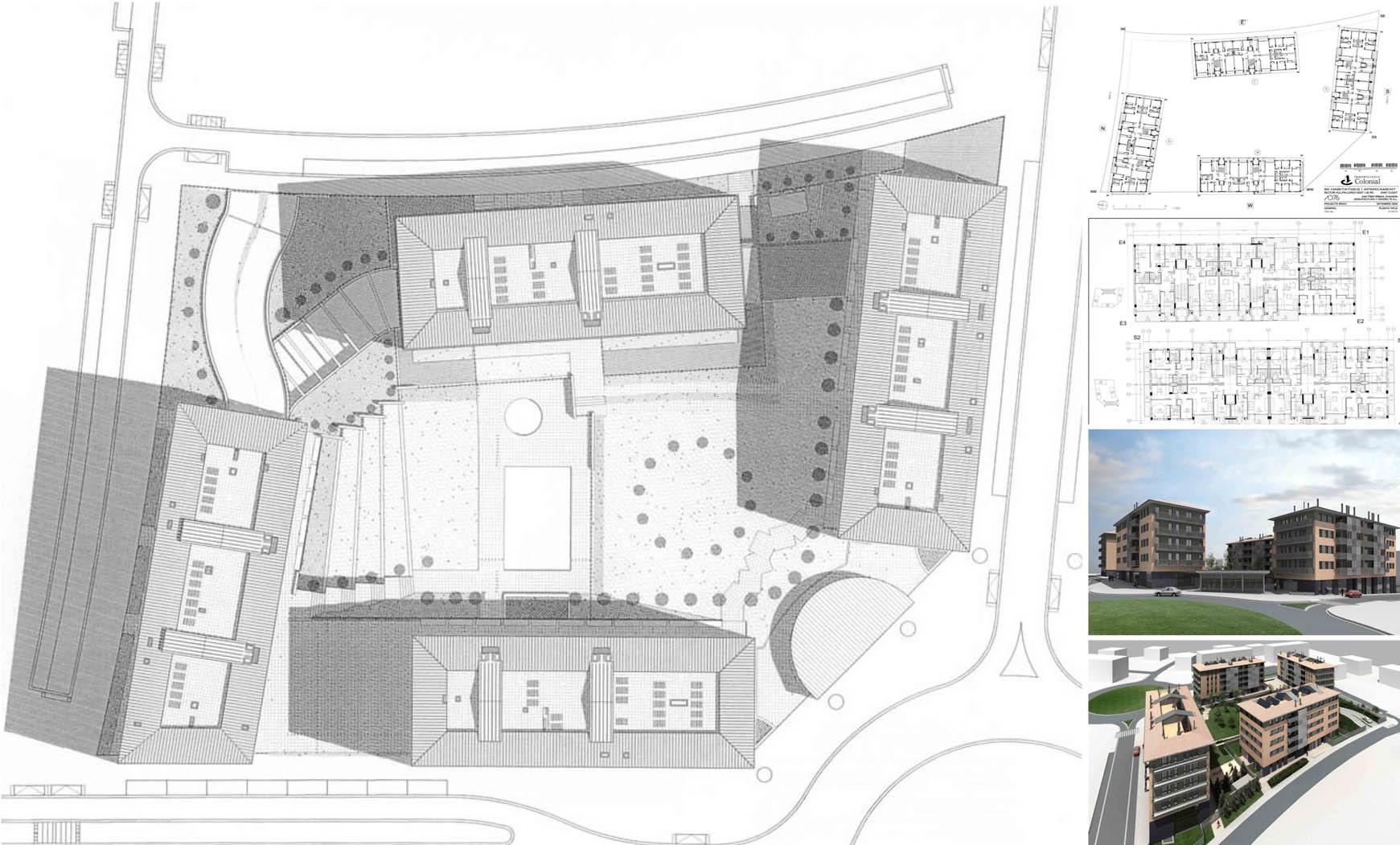 90 viviendas, bajos comerciales, aparcamiento subterráneo y jardín en St. Cugat (2008) 2/2