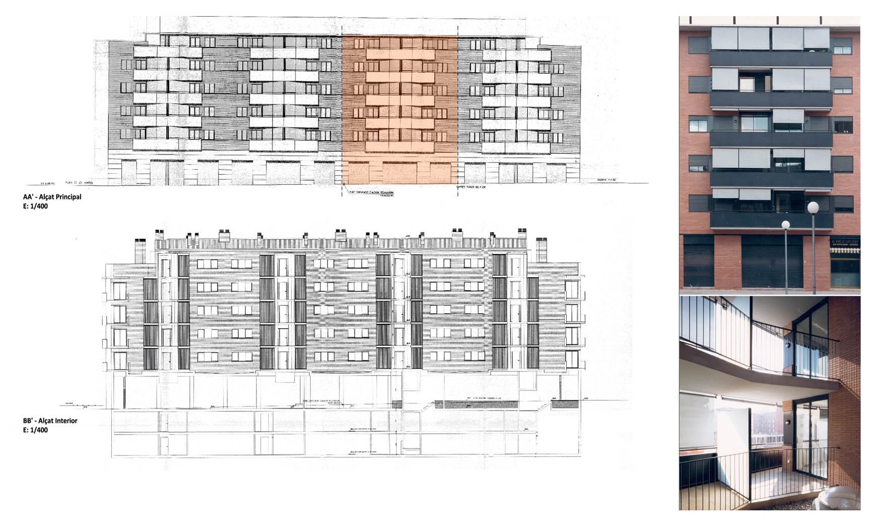 76 viviendas, comercios y aparcamiento subterráneo en Granollers (1997), en colaboración con EGC 2/2