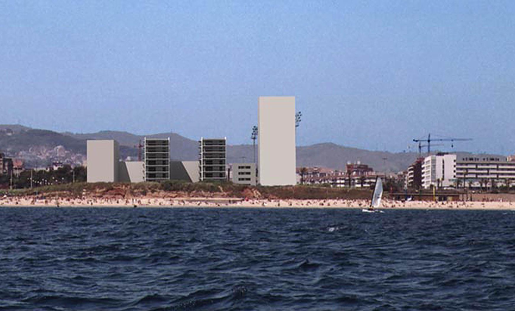 94 viviendas y aparcamiento en Calvell/Bilbao, Barcelona. Anteproyecto, 2003. En colab. con BCM 2/2