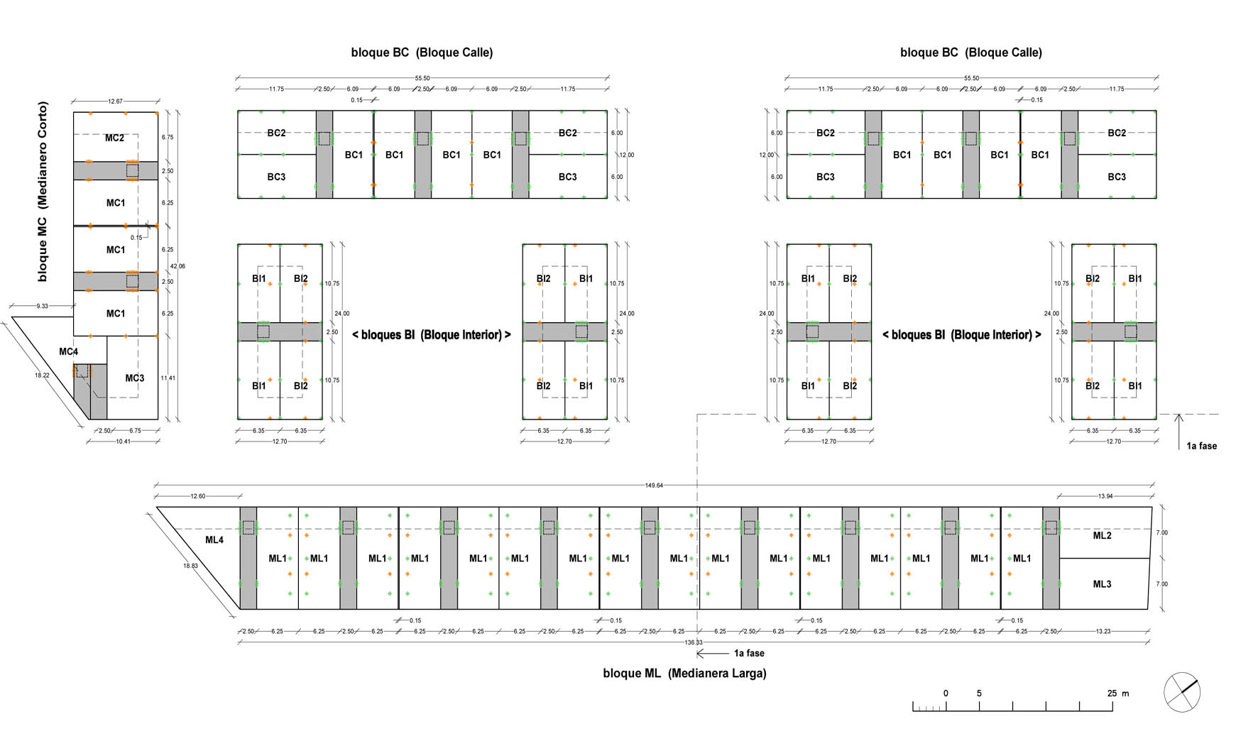 282 viviendas, aparcamiento subterráneo y urbanización en Benicarló. Anteproyecto, 2010. 1/2