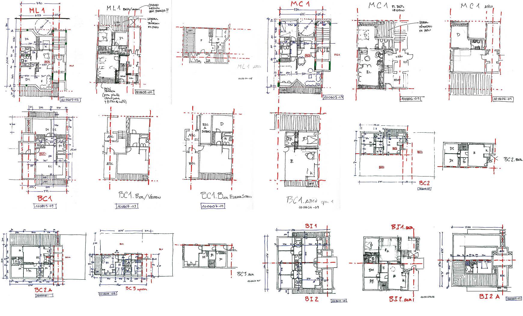 282 viviendas, aparcamiento subterráneo y urbanización en Benicarló. Anteproyecto, 2010. 2/2