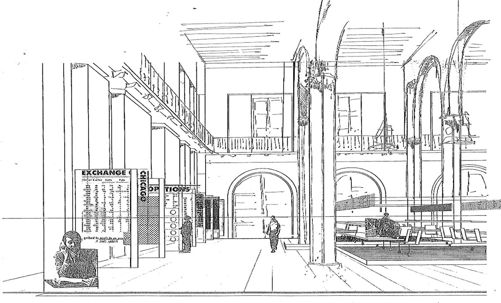 Estudio instalación de parquet electrónico en la Llotja de Barcelona (1989), en colab. con EGM