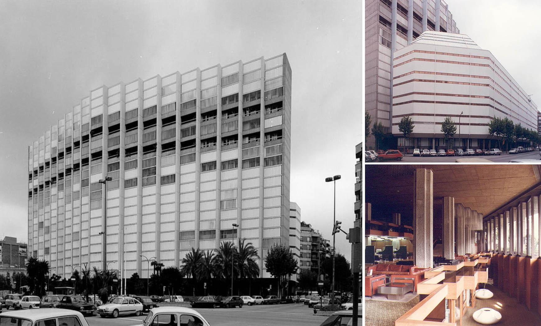 Edificio Central Telefónica Urbana, en avda. Roma, Barcelona (1975), en colab. con Francesc Mitjans