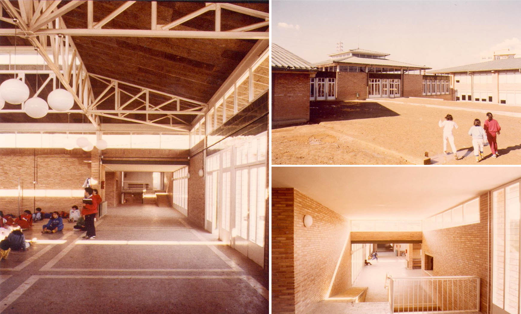Escuela Pública Ramón Llull en Rubí (1984), en colaboración con Francesc Mitjans y EGC