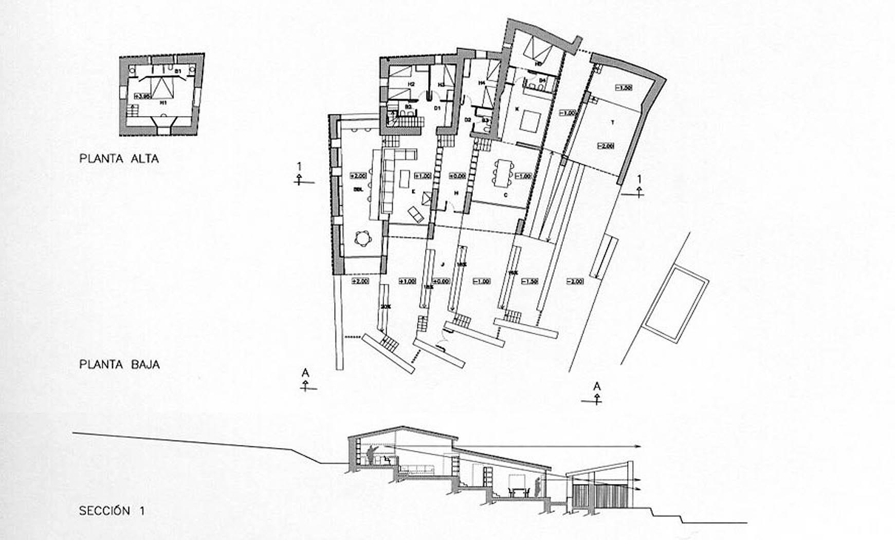 Reconstrucción y ampliación de Mas Sa Cruïlla, Cadaqués. Anteproyecto, 2003