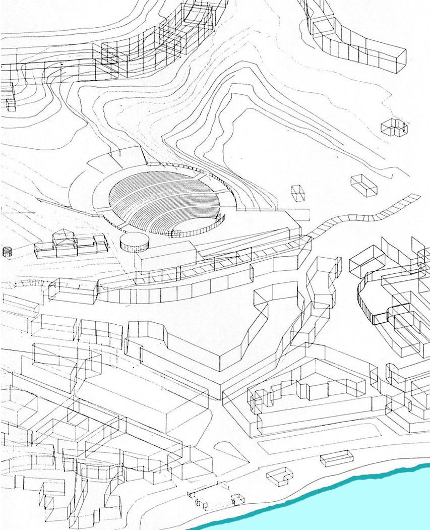 Estudios previos para un anfiteatro al aire libre en Cadaqués (1989), en colaboración con EGC