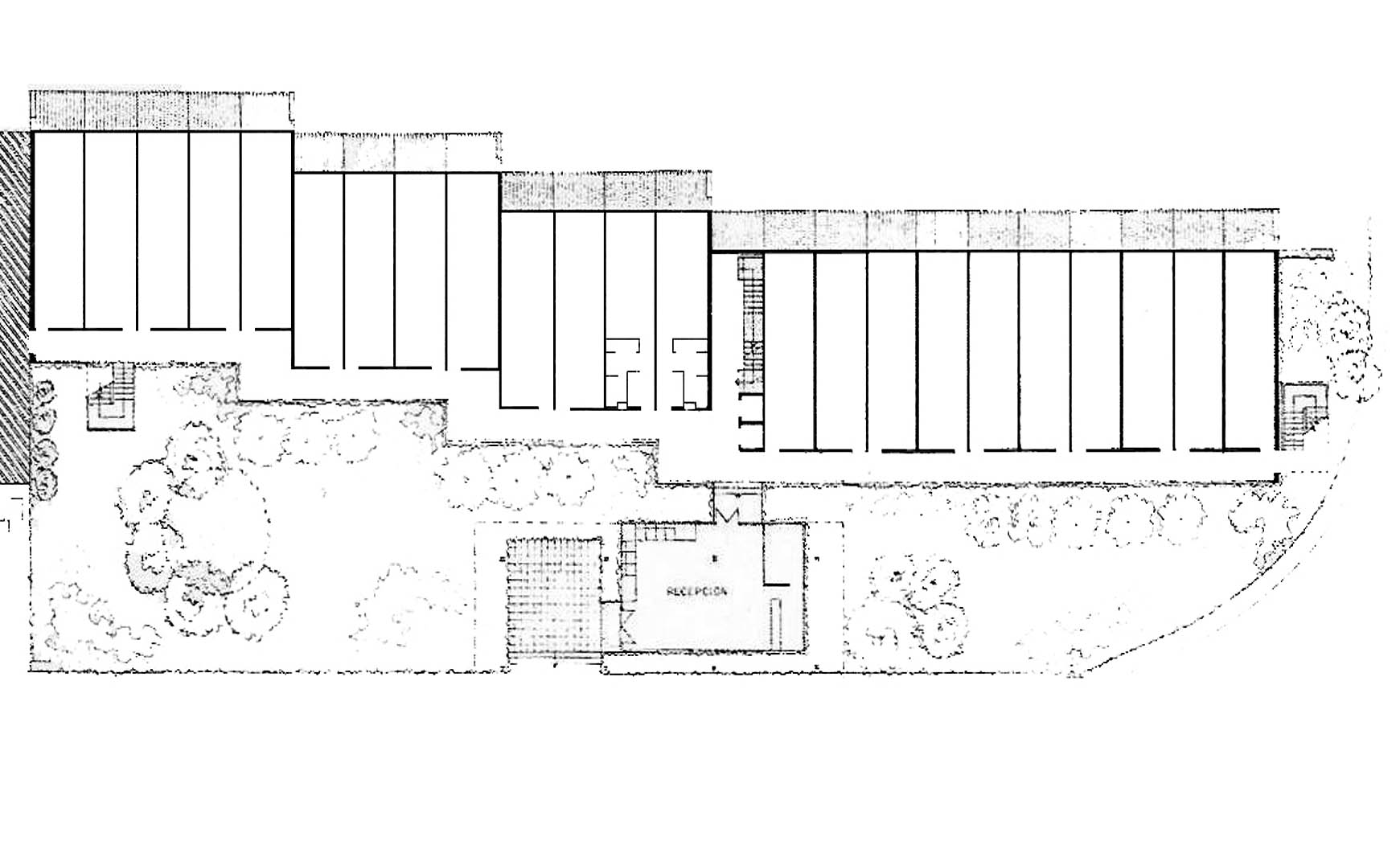 Apart-hotel de 60 habitaciones en Tossa de Mar, Gerona. Proyecto básico, 1980.