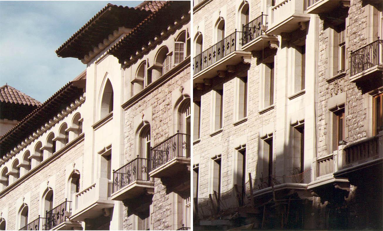 Oficinas en Via Layetana, Barcelona (1982), en colaboración con Francesc Mitjans
